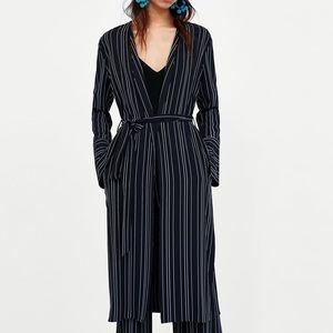 Zara Long Striped Cardigan